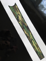Woodland Camouflauge Top Tube Graphic